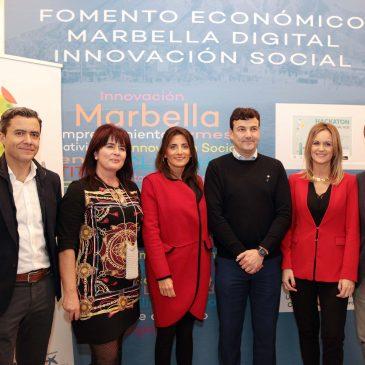 El Vivero de Empresas de Marbella ha acogido esta tarde la presentación de la aplicación móvil 'La Noria Social Hub'