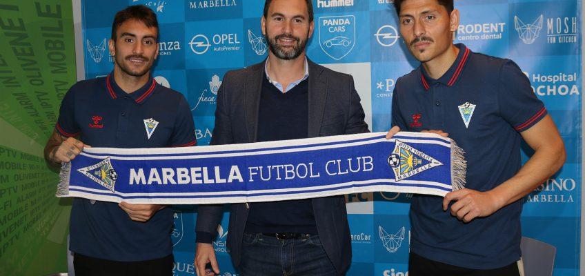 """Samu de los Reyes y Faurlín muestran su """"ilusión"""" por incorporarse al """"ambicioso"""" proyecto del Marbella F.C."""