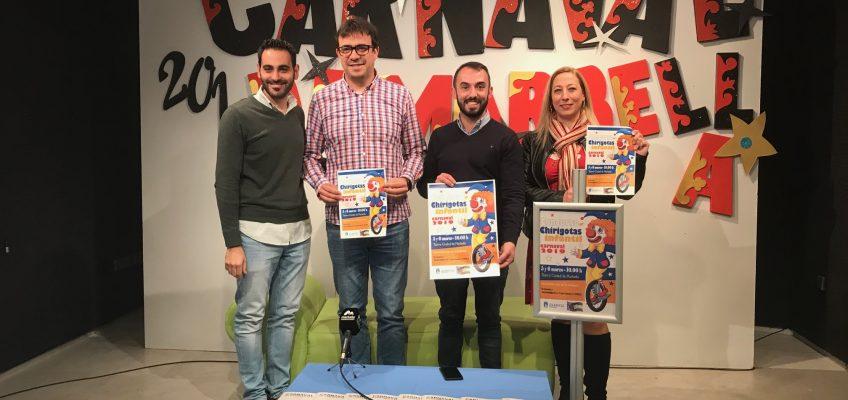 El Teatro Ciudad de Marbella acogerá el Concurso Infantil de Chirigotas los días 5 y 6 de marzo con la participación de más de diez agrupaciones de ocho centros educativos