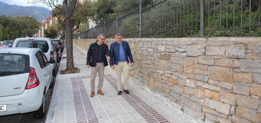 El Ayuntamiento finaliza varias actuaciones de acerado e iluminación en el marco del Plan de Barrios en las zonas de Miraflores y Leganitos