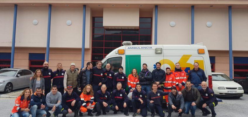 El Parque de Bomberos de Marbella ha acogido esta semana una jornada sobre atención sanitaria