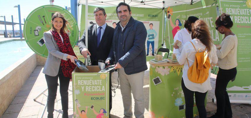 Marbella colabora con la campaña #GreenWeek19 para concienciar sobre la importancia del reciclaje de los residuos de aparatos eléctricos y electrónicos