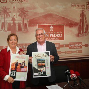La Tenencia de San Pedro Alcántara recupera el Día de San José con una celebración en el Parque de los Tres Jardines donde actuará 'Andy y Lucas'