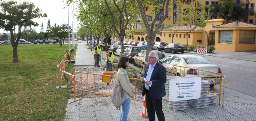 La Tenencia de San Pedro Alcántara pone en marcha un Plan de Conservación de Urbanizaciones que destinará 250.000 euros a 180 pequeñas actuaciones