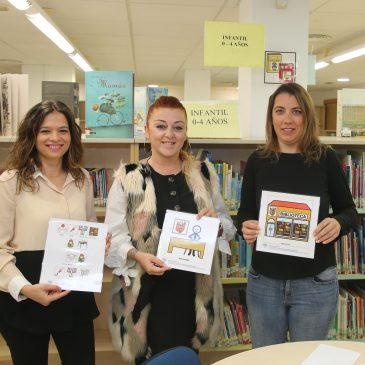 La Tenencia de Alcaldía y la Asociación Principito hacen de la biblioteca municipal un espacio más inclusivo con la colocación de 30 pictogramas