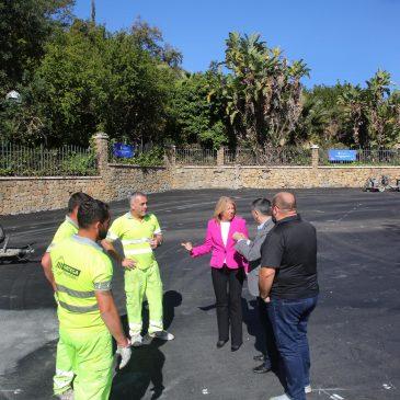 El Ayuntamiento acondiciona el aparcamiento del Calvario con nuevo pavimento, señalización y alumbrado