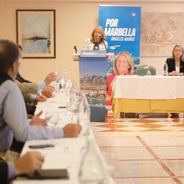 """Ángeles Muñoz se compromete a que el Urbanismo sea una """"prioridad absoluta"""" en la próxima legislatura para que vuelva a generar """"riqueza y empleo"""" en Marbella"""