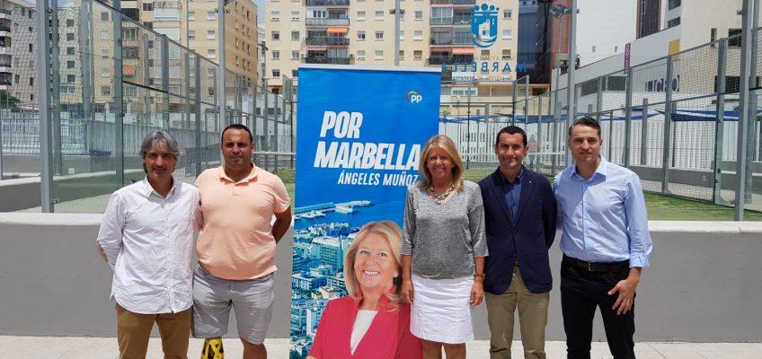 Ángeles Muñoz sienta las bases de su programa deportivo sobre el deporte base, el turismo deportivo y la adecuación y construcción de nuevas infraestructuras  El deporte base, el turismo deportivo y la apuesta por las infraestructuras, hoja de ruta del programa deportivo de Ángeles Muñoz