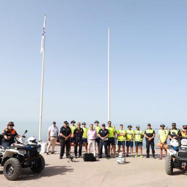 Más de 100 efectivos integran el dispositivo de emergencia en las playas de Marbella durante la temporada estival