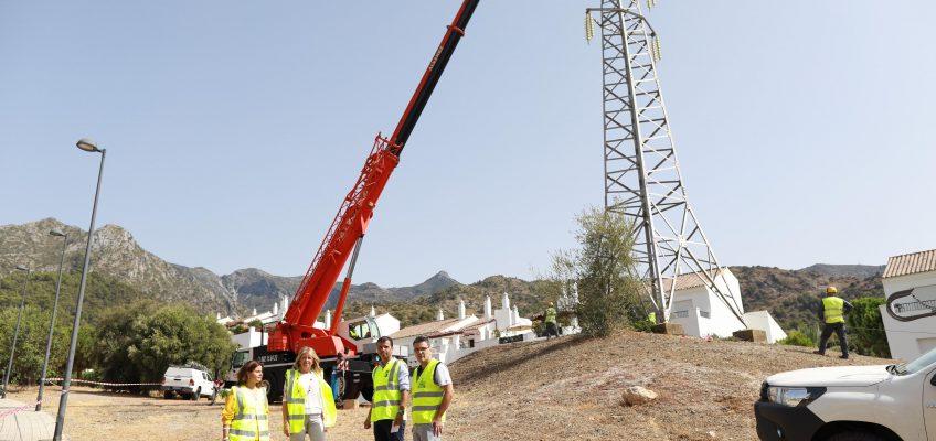 El Ayuntamiento culmina el soterramiento de la línea de alta tensión de Xarblanca con la retirada de la última torreta y libera más de 50.000 metros cuadrados de suelo público afectado