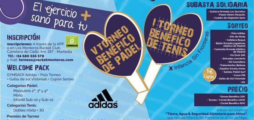 V Torneo Benéfico de Pádel + I Torneo Benéfico de Tenis y Cena/ Cóctel Benéfica a favor de Infancia sin Fronteras, Rueda de Prensa 1 de agosto