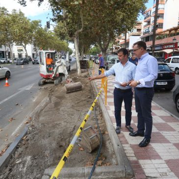 El Ayuntamiento realza la ornamentación de Severo Ochoa con mejoras desde el área de Parques y Jardines sobre una superficie de 480 metros cuadrados en el margen norte de la avenida
