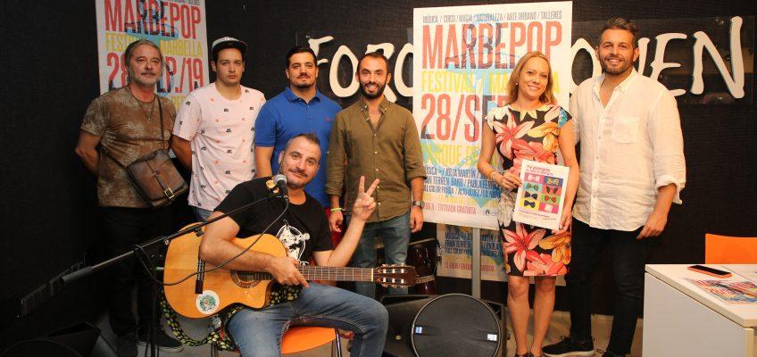 La cuarta edición del Festival Marbepop llega al parque Arroyo de la Represa el 28 de septiembre con doce horas de conciertos y otras actividades para toda la familia